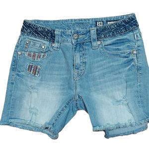 Miss Me Denim Cutoff Jean Mid Shorts USA Size 28